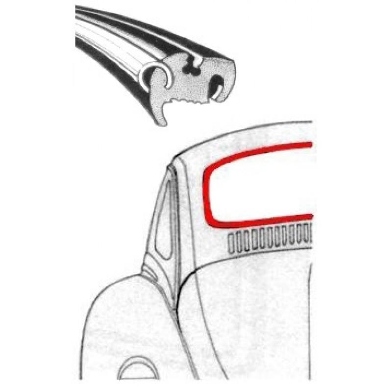 Joint de lunette arrière 8/64-7/71 et mexicaine (pour moulure plastique)