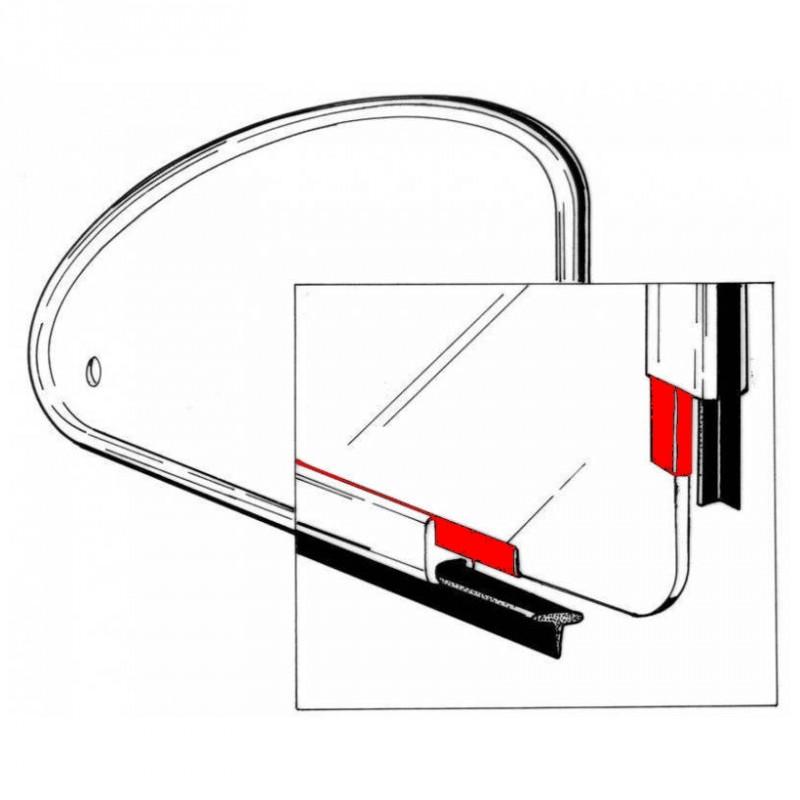 Set de 2 joints de pop out entre vitre et cadre 65-77