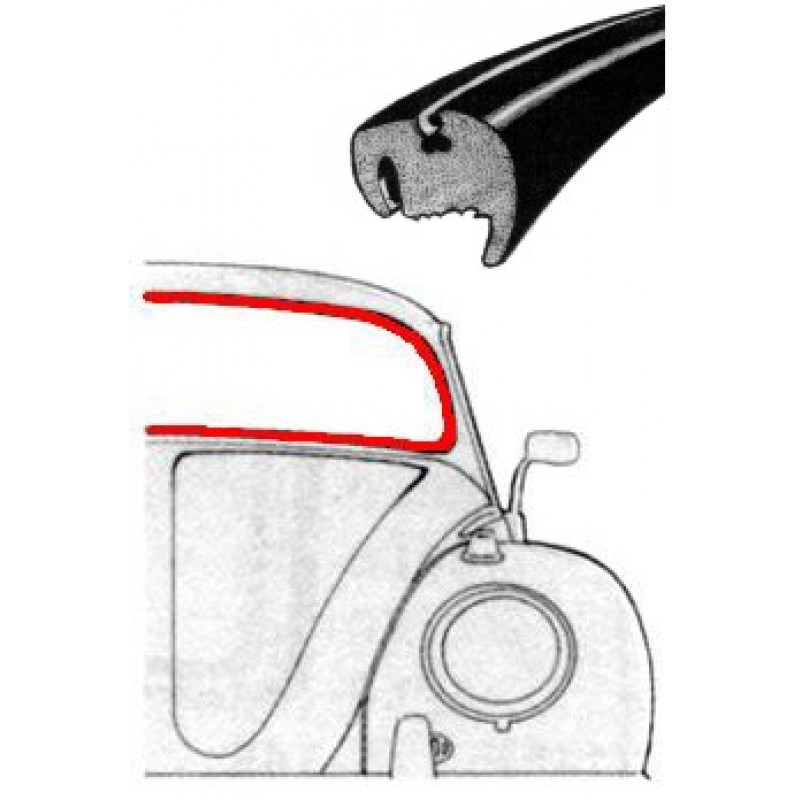 Joint de pare-brise cal look 8/57-7/64 WCM