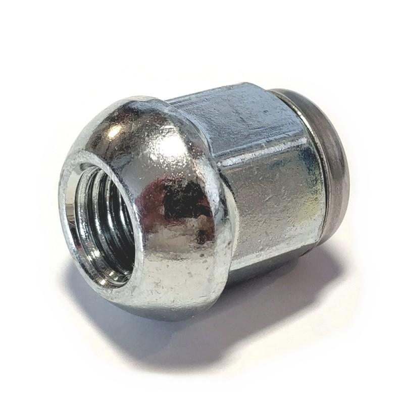 Ecrou bouché chromé 12x1,5 à appui arrondi