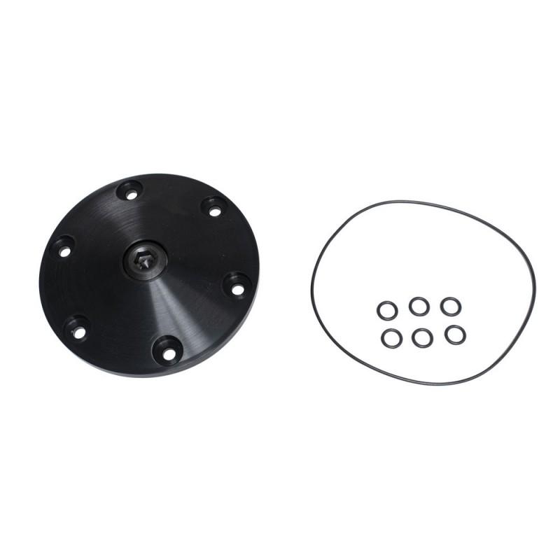 Plaque de vidange alu anodisé noir JAYCEE magnétique avec bouchon de vidange