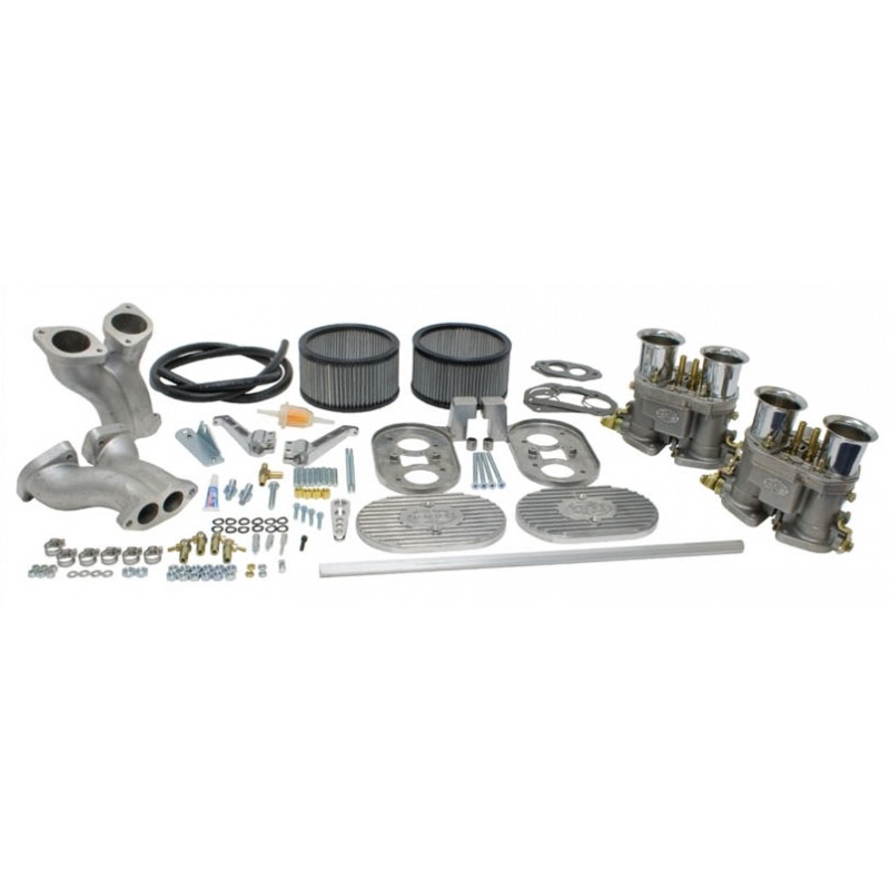 """Kit LUXE double carburateurs EMPI """"D"""" 40mm pour Type 1"""
