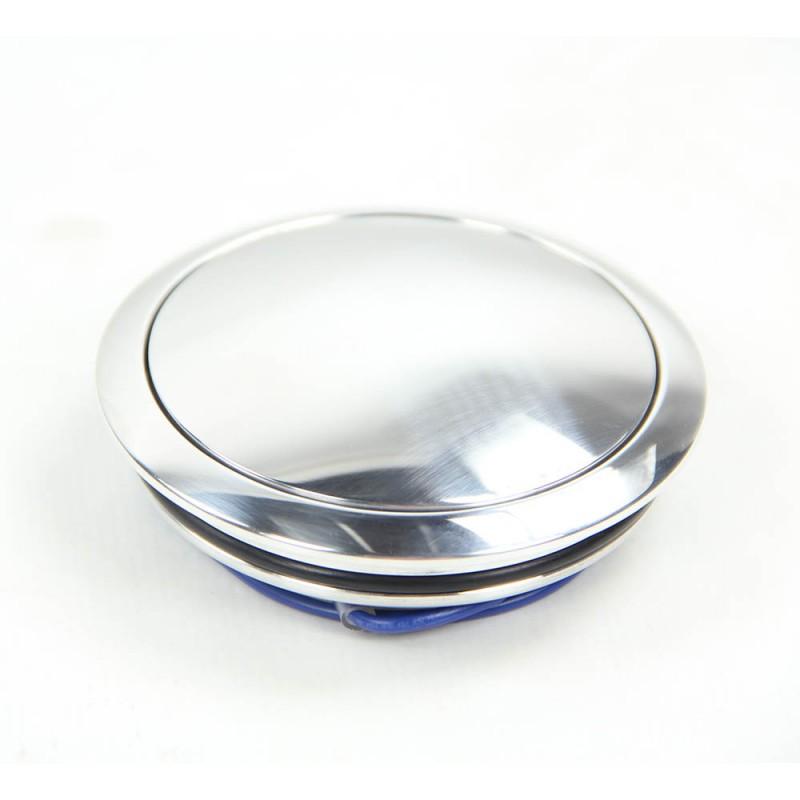 Bouton de klaxon en aluminium pleine masse sans logo pour volant réf 07040