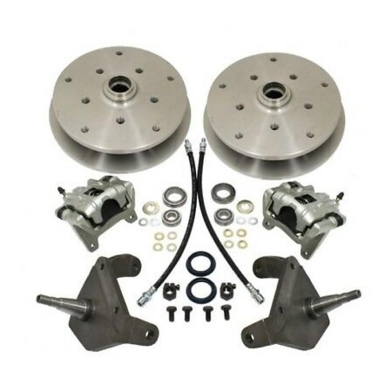 Kit frein à disques avant 5x205 et 5x130 pour rotules 8/65- EMPI avec fusées décalées