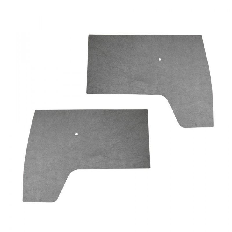 Set de 2 panneaux de porte en carton gris comme origine T2 -67