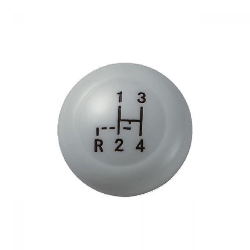 Pommeau de levier de vitesse Vintage Speed gris diamètre 10mm