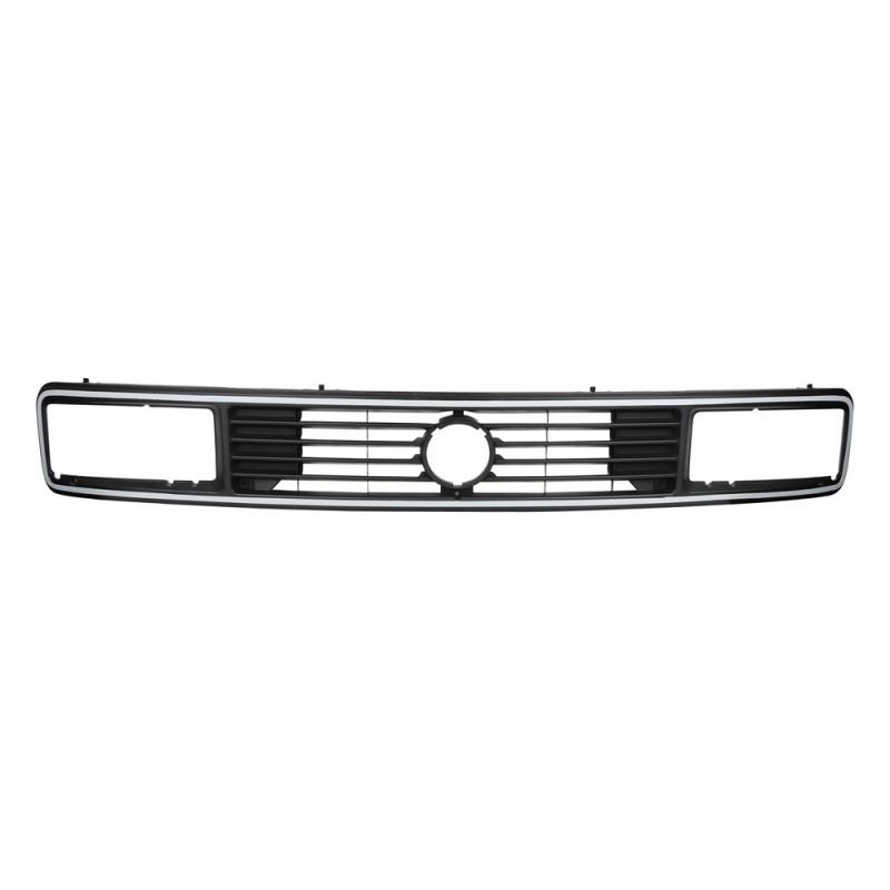 Calandre de radiateur supérieure avec phares rectangulaires avec liseré gris pour sigle diam 125mm