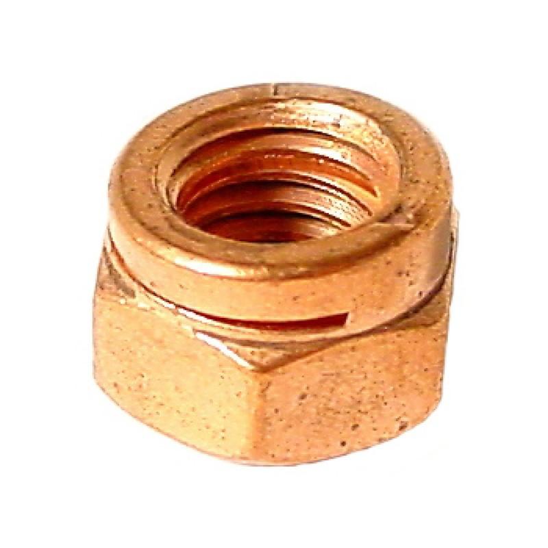 Ecrou d'échappement à fente en cuivre M8 clé en 13mm