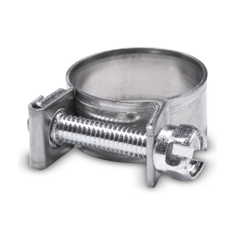 Collier de serrage inox type mini pour durite diam. extérieur 15-17mm