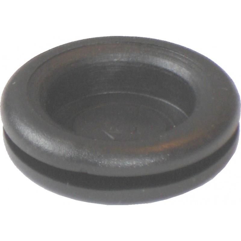 Passe-fil obturé à percer jusqu'à diam 16mm intérieur (diam ext 25,5mm pour trou de 19mm)