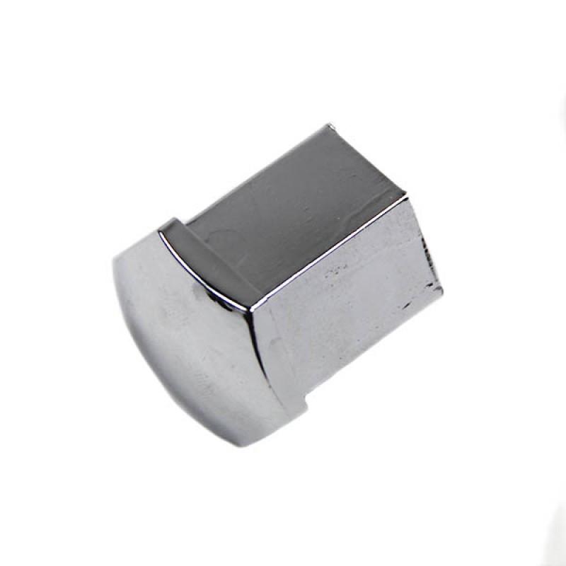 Cache-écrou de roue en plastique chromé (tête hexagonale 17mm)