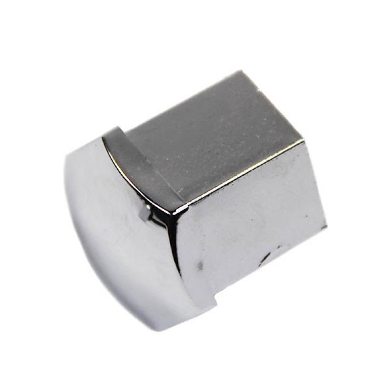 Cache-écrou de roue en plastique chromé (tête hexagonale 19mm)