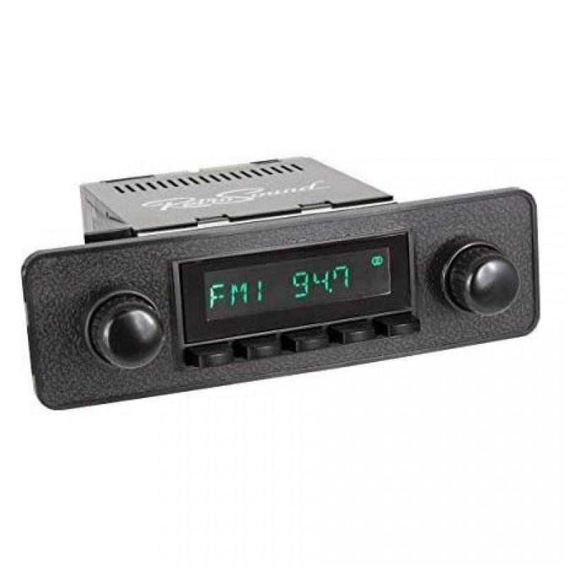 "Autoradio RETROSOUND look ""70's/80's"" avec boitier HERMOSA"