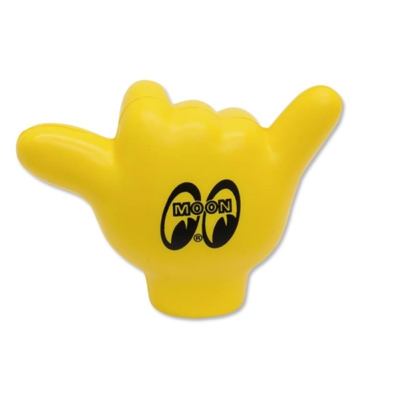 Boule d'antenne MOON jaune en forme de main