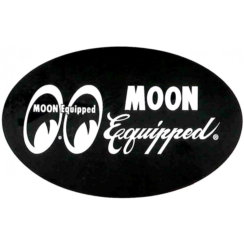 Autocollant MOON EQUIPPED noir
