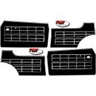 Set de 4 panneaux de porte 64-74 noirs (avec vide poche)