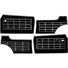 Set de 4 panneaux de portes 64-74 noirs (avec vide poche)