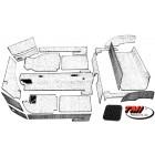 Kit moquette cabriolet 20 pièces noire 69-74