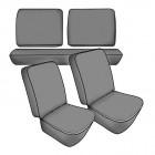 Kit housses de sièges noires TMI pour 181