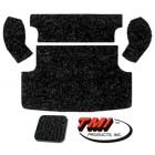 Kit moquette de coffre arrière noire (TMI # 301) (5pcs)