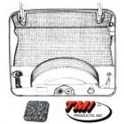 Kit moquette de coffre avant grise 71-74 (5pcs)
