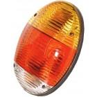 Feu arrière gauche ou droit complet 1303 et 1200 8/73- plat « style new beetle » (sans marquage CE)