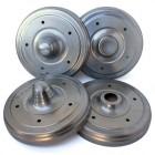 Set de 4 couvres tambours 5 x 205 imitation freinage Porsche 356/550