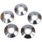 Set de 5 rondelles aluminium de centrage de jantes de type erco épaisseur 0.120