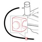 Clip de retenue de durite de mise à l'air de réservoir 61-67