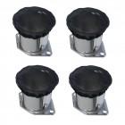 Set de 4 protections noires anti-poussières de cornets