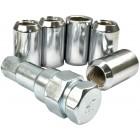 Set de 5 écrous + clé pour jante BRM T2 8/71-  (diamètre extérieur 20mm)