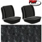 Housses de sièges avant séparés pour T2 68-73 en Basketweave Noir (#01)