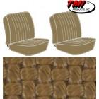 Housses de sièges avant séparés pour T2 68-73 en Basketweave Tan (#03)