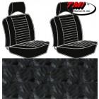 Housses de sièges avant séparés à appuis-têtes pour T2 74-76 en Basketweave Noir (#01)