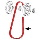 Courroie pour poulie petit diamètre 135mm
