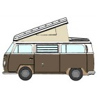 Toile de Westfalia 68-73 à 3 fenêtres BEIGE qualité éco