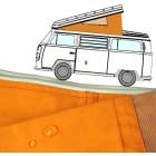 Toile de Westfalia 68-73 à 3 fenêtres ORANGE qualité sup