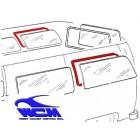 Joint de vitre latérale arrière gauche ou droite 68- WCM (sans déflecteur)