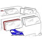 Joint de vitre latérale centrale gauche ou droite 68- WCM (sans déflecteur)