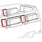 Joint de déflecteur de vitre latérale arrière ou centrale