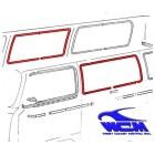 Chrome de vitre latérale centrale 68- pour véhicule sans déflecteur