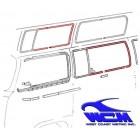 Chrome de vitre latérale centrale 68- pour véhicule avec déflecteur
