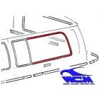 Chrome de vitre latérale arrière gauche pour véhicule avec déflecteur 68-