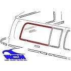 Chrome de vitre latérale arrière droit pour véhicule avec déflecteur 68-