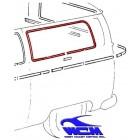 Chrome de vitre latérale arrière gauche pour véhicule sans déflecteur 68-