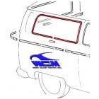 Chrome de vitre latérale arrière droit pour véhicule sans déflecteur 68-