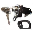 Poignée chromée de capot moteur 72- fermant à clef