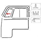 Joint de déflecteur gauche 52-67