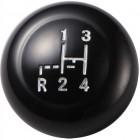 Pommeau de levier de vitesse VINTAGE SPEED noir diamètre 12mm