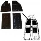 Kit de 4 panneaux d'isolation de chassis